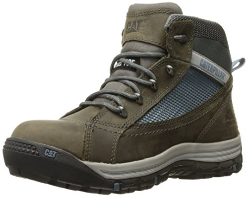 Caterpillar Women's Champ Mid Steel Toe Work Shoe, Dark Gull Grey, 6 M US by Caterpillar