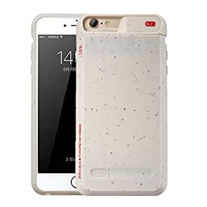 Dual SIM iPhone 7 Plus / 6S Plus / 6 Plus Battery Case, IKOS Extended Juice Battery Pack Power Bank Charger Protective Cover (5000mAh Battery,White)
