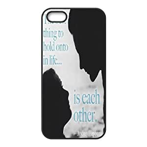 Qxhu Audrey Hepburn Quote patterns Snap-on Cover Hard Carrying Case for Iphone5,5S