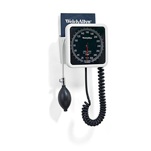 Welch Allyn 7670-01 767 Wall Aneroid with Durable FlexiPort Cuff, Adult