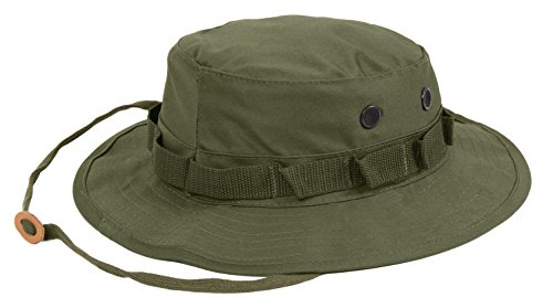 Chino Washed Cotton Cap - Rothco Boonie Hat, Olive Drab - (7 1/4) Inch