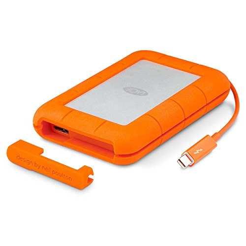 LaCie Rugged 2TB Thunderbolt and USB 3.0 Portable Hard Drive + 1mo Adobe CC All Apps...