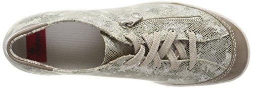 Rieker Steel Damen Weiß Grau M3711 Sneaker wZxyOUqBZ