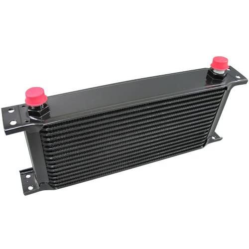 Black Oil Cooler 11 inch Core 16 Row AN8 Fitting on sale