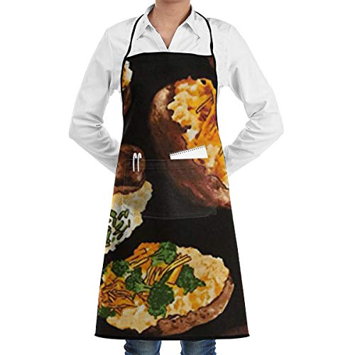 Got The Munchies Loaded Potatoes Apron, Unisex Kitchen Bib Apron with or Cooking Baking -