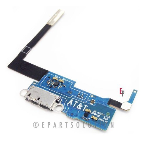 ePartSolution-Samsung Galaxy Note 3 N900A Charger Charging Port Flex Cable Dock Connector USB Port Repair Part USA - Shipping Times Priority