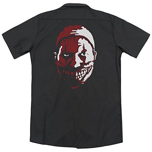 Courtes shirt Noir Homme Story American Opaque Manches Horror T 8qFtFnwaX