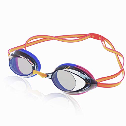 Uniq Fliker Women's Mirrored Swim Goggle, Race Goggles in and Styles – Hot Coral