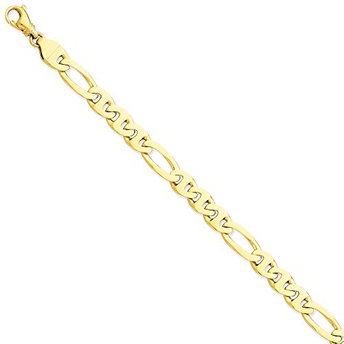 14k 8.75mm Polished Fancy Figaro Link Chain by Saris and Things
