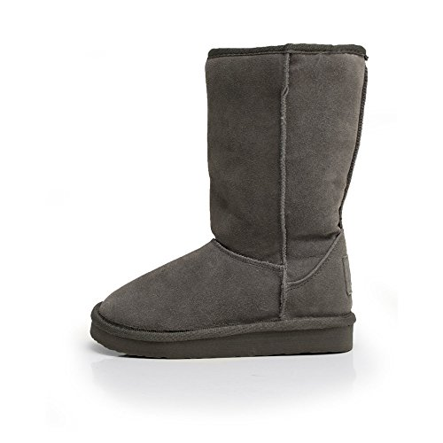 Dude Shoes Womens Dolomity Boot Charcoal Suede Slouch Boot Grey