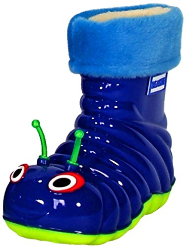Children's Waterproof Rain Boots Cartoon Animals Toddler/Little Kid (7 M US Toddler), Blue -