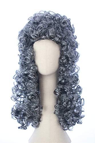 Cosplaywigscom: Lawyer Wig Costume George Washington Gentlemen Colonial Court Judge Wigs Cosplay for Men and Women (Gray Judge)
