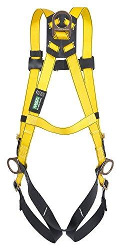 MSA Safety 10096481 Style 3-D Harness Vest, Standard Size