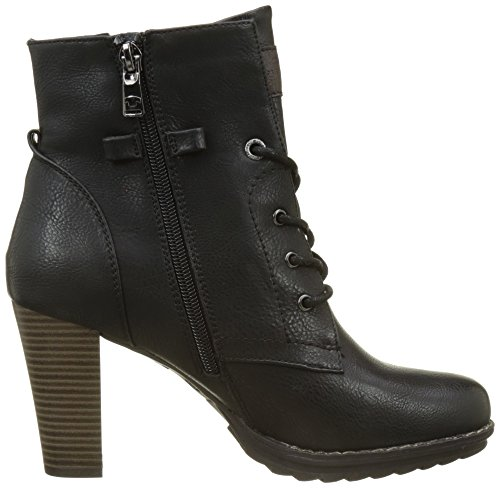 TOM TAILOR Damen 3790403 Stiefel Schwarz (Black)