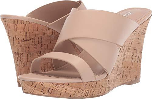 (CHARLES BY CHARLES DAVID Women's Leslie Wedge Sandal Nude 5.5 M US)