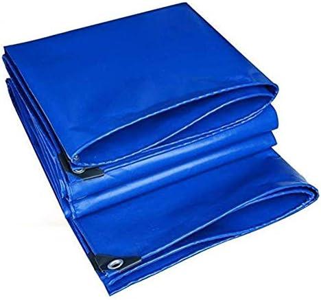 FQJYNLY ターポリンタープPVC高い引張強度抗酸化防寒さびないボタンホールバルコニーパティオ、18サイズ (Color : Blue, Size : 2X3M)