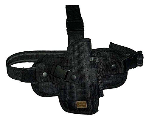 Tactical SWAT Black Drop Leg Thigh Pistol Hand Gun Holster