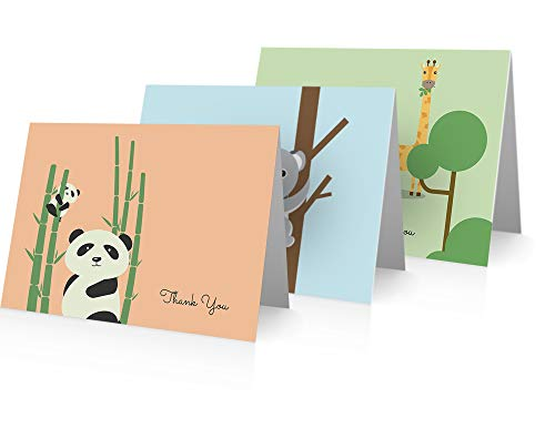 (Baby Thank You Cards (24 Cards and Envelopes) Baby Animals Note Cards)
