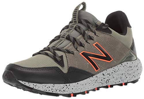 New Balance Men's Crag V1 Fresh Foam Running Shoe, Faded Rosin/Mineral Green/Black, 10.5 D US