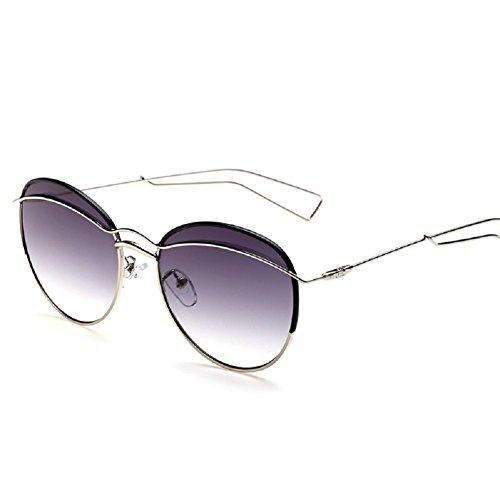 Embryform métal cadre rond lunettes de soleil mode femme Violet ... eae1ef9a0188