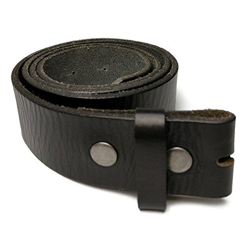 GFtime Vintage Snap On Leather Belt without Buckle 1.5