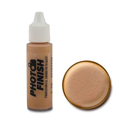 Photo Finish Professional Airbrush Makeup Foundation, airbrush makeup, water and sweat resistant, long-wearing, works with airbrush makeup kits (.5 fl oz, Medium Luminous)