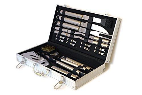 Culina 20510 Bbq 18 Pcs in Elegant Aluminum Stow Case by Culina