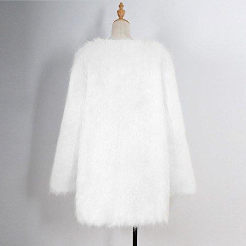 de Blanco casual invierno abrigo Ladies larga Parka de mujer Chaqueta Outwear Escudo Outwear Internet Abrigo abrigo qZ1KFp