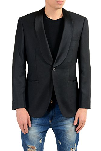 Hugo Boss Harve Men's 100% Wool Slim Black Blazer Sport Coat US 38R IT 48R