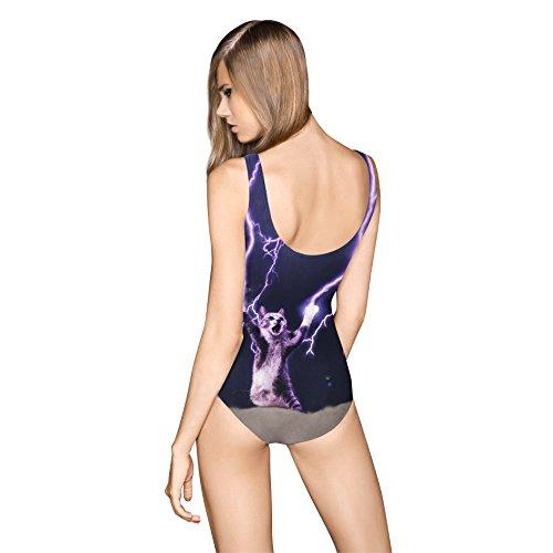 SZH Negro One-pieces de las mujeres, trajes de baño atléticos de una pieza sólidos del halter de las mujeres