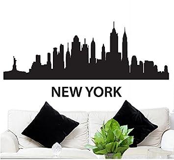 Elegant Wall Decal Sticker New York Skyline 22.5u0026quot; Tall 48u0026quot; ... Part 22