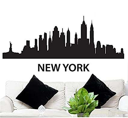 Wall Decal Sticker New York Skyline 22.5u0026quot; Tall 48u0026quot; ...  sc 1 st  Amazon.com & Wall Decal Sticker New York Skyline 22.5