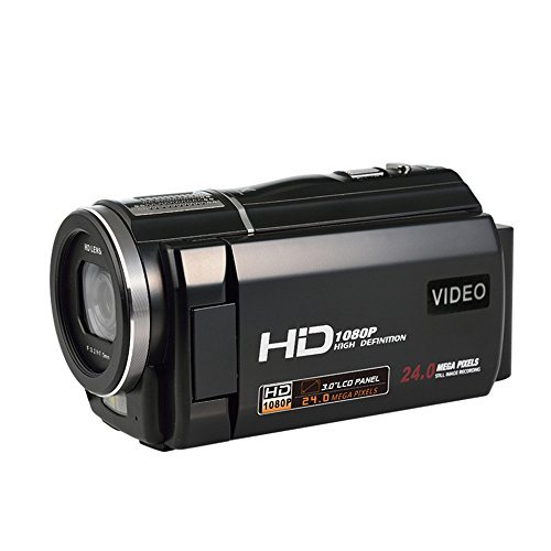 COMI Camcorder Full HD 1080P @30fps 24.0MP Digital Video Recorder Close-up Shooting Camera Mini DV Camcorders 3 Inch Touch Screen