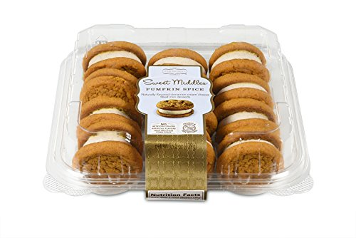 Our Specialty Sweet Middles, Peanut and Tree Nut Free, Pumpkin Spice Mini Cream Filled Sandwich Cookies, 12 Cookies per Pack, Pack of (Pumpkin Candy Corn Gift)