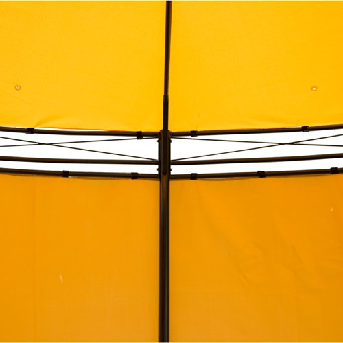 Outsunny Round Outdoor Patio Canopy Party Gazebo with Curtains, 11-Feet, Orange by Outsunny (Image #5)