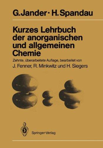 Kurzes Lehrbuch der anorganischen und allgemeinen Chemie (German Edition)