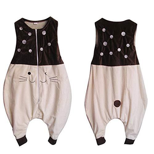 RubyShopUU Boys Pajamas Girls Cartoon Flannel Warm Sleeping Bag Kids Prevent The Kick Quilt Baby Blanket Sleeper Children Footed -