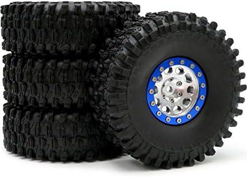 RC 1.9 スーパースワンパー クローラー タイヤ タイヤ 高さ 120mm & アルミニウム 1.9 ビードロック ホイール