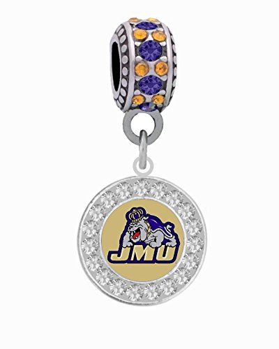 Final Touch Gifts James Madison University Charm Fits European Style Large Hole Bead -