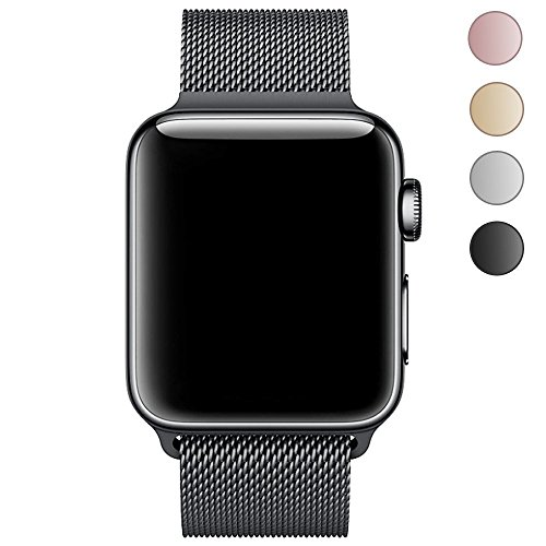 GEOTEL Band for Apple Watch 38mm 42mm, Stainless Steel Mesh Milanese Loop with Adjustable Magnetic Closure Replacement Metal iWatch Band for Watch Series 3 Series 2 Series 1 Nike+ Sport