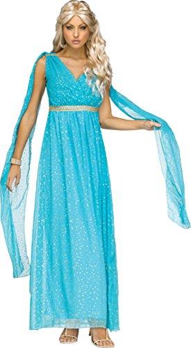 Fun World Women's Divine Goddness Costume, Blue, Small/Medium