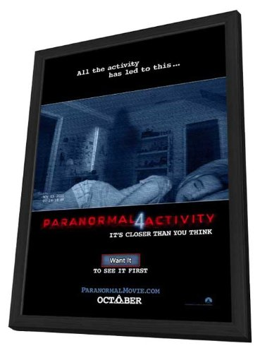 Paranormal Activity 4 (2012) 11 x 17 Movie Poster - Style B - in Deluxe Wood Frame by MG Posters