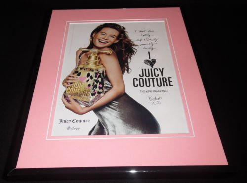 Behati Prinsloo Facsimile Signed Framed 2016 Juicy Couture Advertising Display