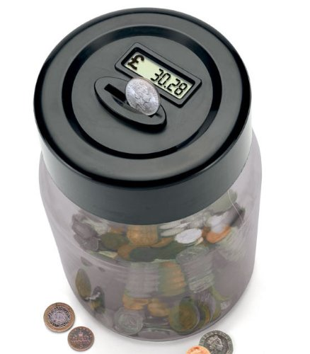 Perfect Solutions 1-Piece Digital Coin Counting Money Jar