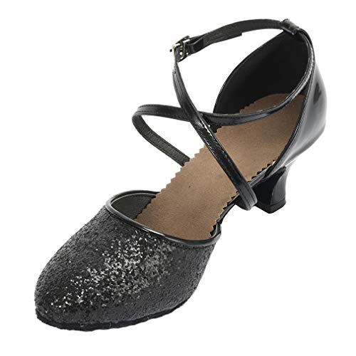 7a39aae415d7d Cygnus Women Dance Shoes Latin Salsa Tango Practice Ballroom Dance Shoes  with 2