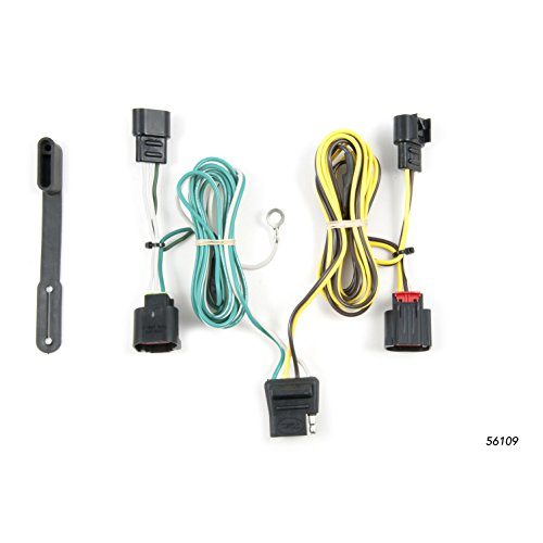 (CURT 56109 Vehicle-Side Custom 4-Pin Trailer Wiring Harness for Select Dodge)