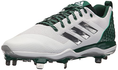 - adidas Originals Men's PowerAlley 5 Mid Baseball Shoe, FTWR White, Silver Met, Dark Green