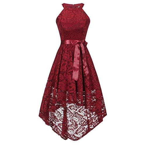 857f09bbd3d Manches Dentelle Longue Rond Floral Soiree D honneur Robe Mariage Sans De  Solike Pour Rouge Demoiselle ...