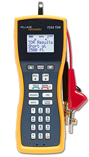 (Fluke Networks TS54-A-09-TDR TS54 Pro LCD Butt-In TDR Telephone Test Set with ABN/PP )