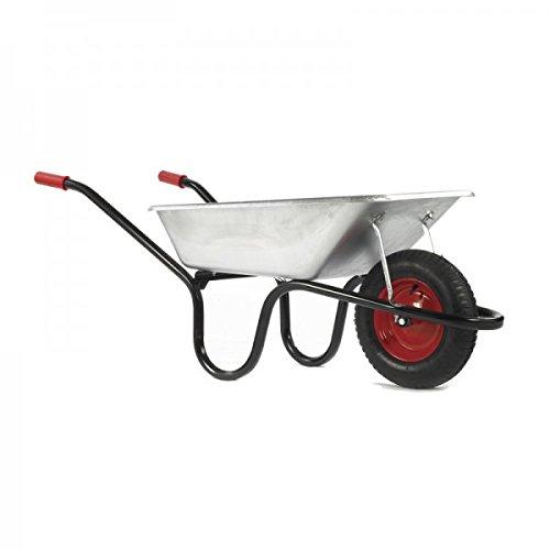Haemmerlin Chillington 85LTR Camden Classic Wheelbarrow – Black or Silver Solid Tyre Epoxy Powder Coated Tray